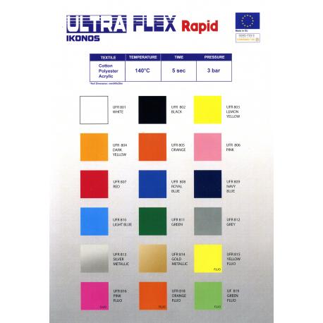 FOLIA IKONOS ULTRA FLEX SREBRNY METALIK (SILVER METALLIC) 0,5 x 1 m