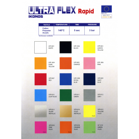 FOLIA IKONOS ULTRA FLEX FLUO ZIELONY (NEON GREEN) 0,5 x 1 m